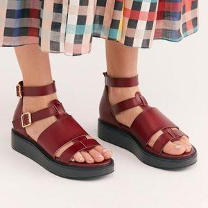 Free People Leo Flatform Gladiator Sandals